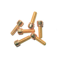 Headstem Bolt Set M5 x 18mm Plated Stainless Steel (6 pieces) Gold