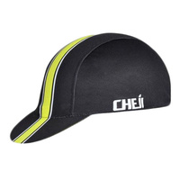 Cycling Cap Light Weight Cheji Black/Yellow 26015
