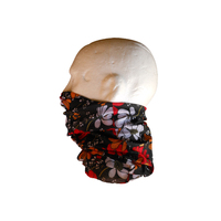 Neck/Face Non-Thermal Tube Bandana Polyester #152 Flower Power