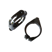 Bottle Cage Seat Post Mounting Clamps Alloy (Pair) 3 Sizes Black BCA003