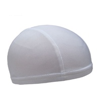 Skull Cap Polyester Breathable Unisize Stretch Fit White  Dicshki
