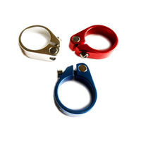 Seat Post Clamp Alloy Anodised 31.8mm Dorcus CC-206