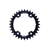 Chainring Single MTB 96BCD x 32T 7075T6 Asymetric Wide Narrow 1 x 9,10,11 Speed Shun