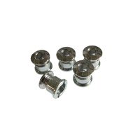 Chainring Bolt Set Single 3.5mm Steel Chrome Shun