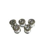 Chainring Bolt Set Triple Long 9.0mm CrMo Steel Chrome Shun
