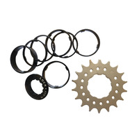 Conversion Kit Single Speed 17T (12T-19T option) for Shimano 7-11 Spd Black