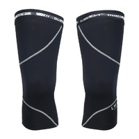 Knee Warmers Fleece Thermal Black Lambda Medium