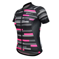 Jersey Short Sleeve Womens Pro Black/Pink Darevie DVJ074W Small Fit