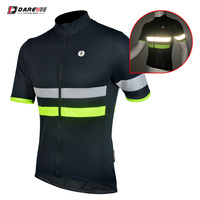 Jersey Short Sleeve Mens Small Fit Black with Hi-Vis and Reflective Strip Medium