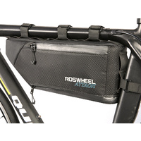 Frame Bag Roswheel Attack Black/Blue Bike Packing Waterproof 121371