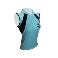 Jersey Sleeveless Womens Aqua/Black GS127 Small Only