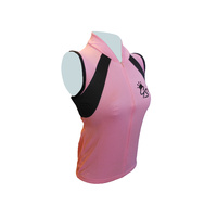 Jersey Sleeveless Womens Pink/Black GS127 Medium Only