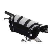 Handlebar Bag with Carry Strap Roswheel Black/Silver 11494D