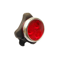 Light Rear Red 3 LED 10 Lumen USB Rechargeable Rainproof Zecto Drive