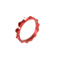 "Headset Spacer 1-1/8"" x 5mm Anodised Red Serrated Dorcus"