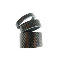 "Carbon Headset Spacer Set 1-1/8"" x 34mm 3k Weave Gloss Prestine"