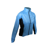 Jacket Womens Wind/Water Proof Blue/Black JW403