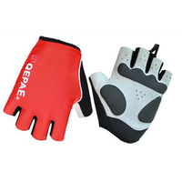 Gloves Unisex Lycra/Synthetic Leather Red Qepae QG055