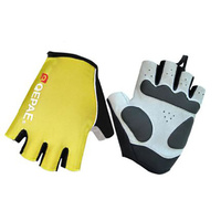Gloves Unisex Lycra/Synthetic Leather Yellow Qepae QG055
