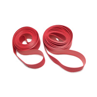 "Rim Tape Strips (pair) Hi Pressure Nylon 27.5"" x 20mm Red"