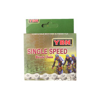 Chain YBN Single Speed 1/8x1/2 116 Link S410 Standard Brown Chain