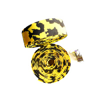 Handlebar Tape EVA Soft Foamed Marble Yellow/Black Saint SBBT-001