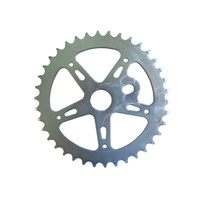 Chainring Steel BMX 1/8 x 38T Shun Chrome SS903 Imperfect Finish