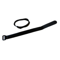 Mounting Straps Hook & Loop 35cm x 2cm (Pair) Black