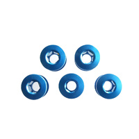 Chainring Bolt Set Double 5.0mm Alloy Blue TL-405B