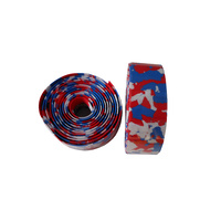 Handlebar Tape Velo EVA Self Stick Marble Red/White/Blue VLT-001-71