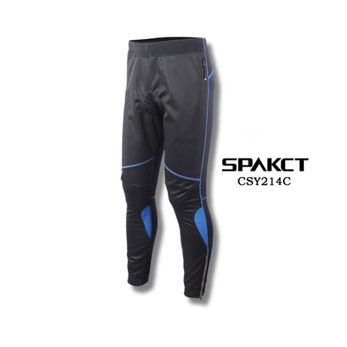 Tights Mens Windproof and Roubaix Thermal Padded Spakct 2XL/3XL Black/Blue CSY214C