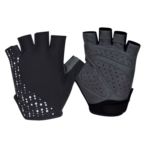 Gloves Mens Darevie Lycra/Arama/Gel Black with Reflective Dots DVG010