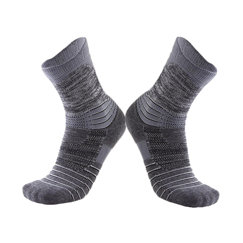 "Socks Unisex 6"" Winter Cotton Cycling Sports 41-47 Grey"