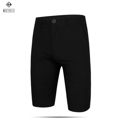 Shorts Commuting Casual Leisure Unpadded Mens Black MK015